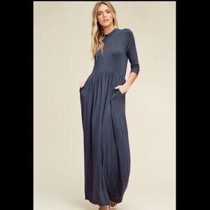 Slate Grey Maxi Dresses